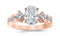 3.26 Ctw 14K White Gold Channel Set 3 Three Stone Princess Oval Cut GIA Certified Diamond Engagement Ring (2.51 Ct H Color SI1 Clarity Center Stone)