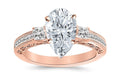 1.05 Ctw 14K White Gold Three 3 Stone Princess Cut Channel Set Pear Cut GIA Certified Diamond Engagement Ring (0.55 Ct K Color VS2 Clarity Center Stone)