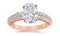 1.69 Ctw 14K White Gold Three 3 Stone Princess Cut Channel Set Oval Cut GIA Certified Diamond Engagement Ring (1.19 Ct E Color SI2 Clarity Center Stone)