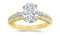 1 Carat 14K White Gold Three 3 Stone Princess Cut Channel Set Oval Cut GIA Certified Diamond Engagement Ring (0.48 Ct E Color VS2 Clarity Center Stone)