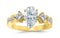 1.75 Ctw 14K White Gold Channel Set 3 Three Stone Princess Pear Cut GIA Certified Diamond Engagement Ring (1 Ct H Color SI2 Clarity Center Stone)
