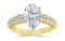 1 Carat 14K White Gold Three 3 Stone Princess Cut Channel Set Pear Cut GIA Certified Diamond Engagement Ring (0.46 Ct H Color VS1 Clarity Center Stone)