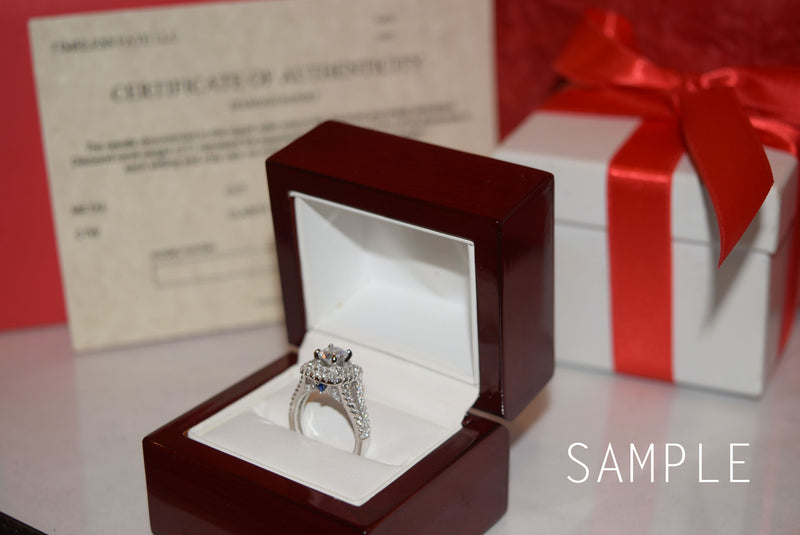 CERTIFIED 1.4Ct Wedding Engagement Ring Set 925 Sterling Silver 3pcs Pear Cz