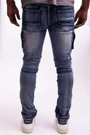 Shell Back - Medium Blue - Caliber Denim Co.
