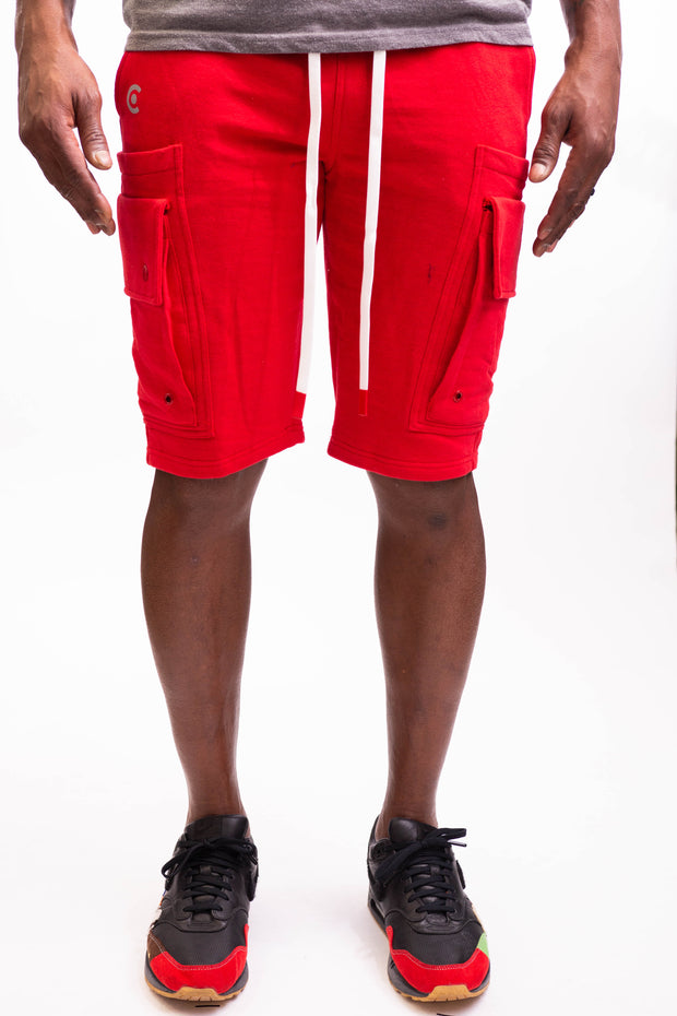 Man Of Arms Shorts - Red - Caliber Denim Co.