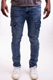 Groves Cargo Jean - Medium Blue