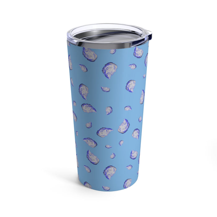 """Oysterfest"" Blue Tumbler 20oz - College Collections Art"