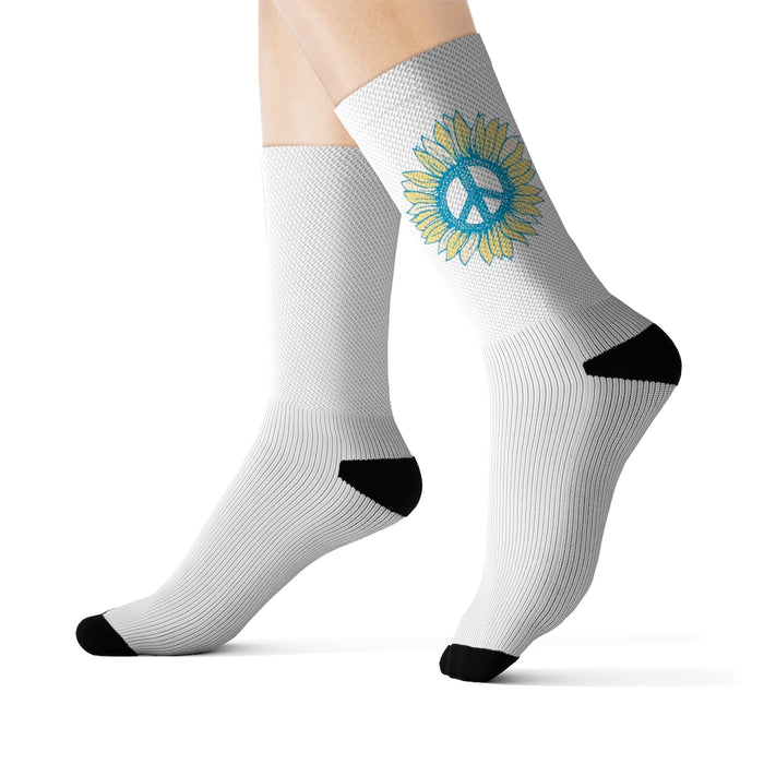 """Peace-flower"" Sublimation Socks - College Collections Art"