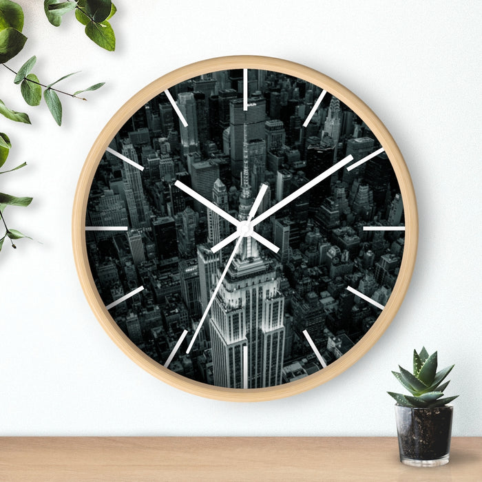 """Empire State Building"" Wall clock - College Collections Art"