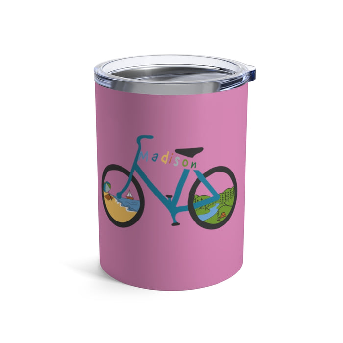 """Madison Bike"" Tumbler 10oz - College Collections Art"