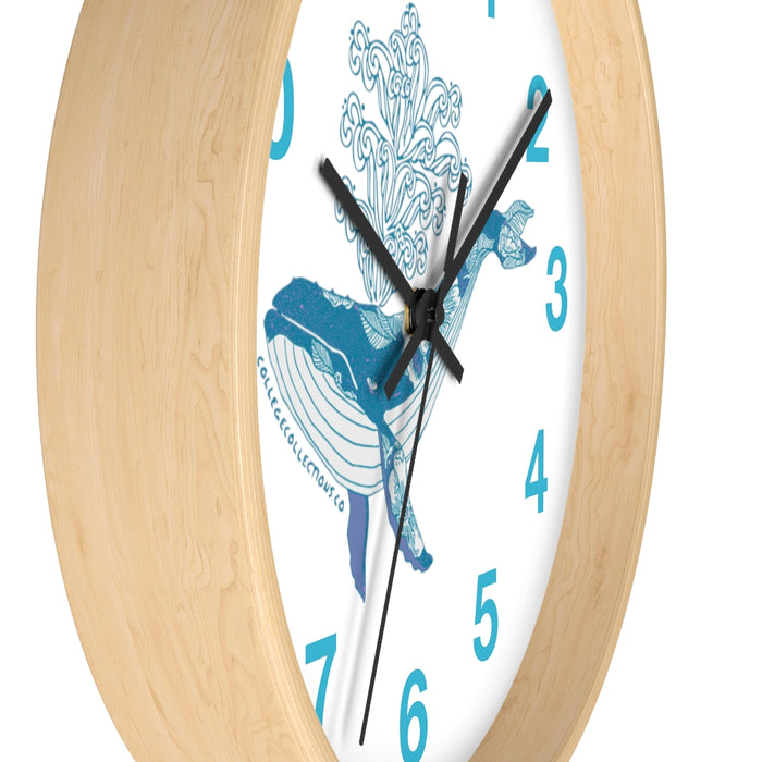 """Humpback"" Wall clock - College Collections Art"