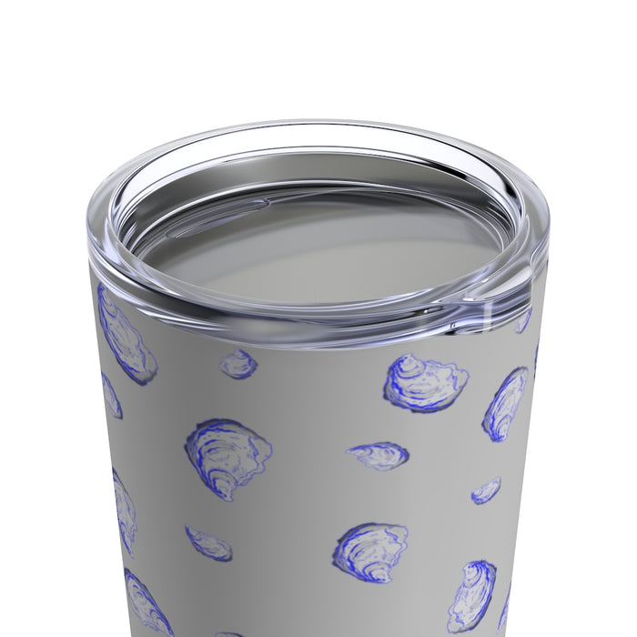 """Oysterfest"" Gray Tumbler 20oz - College Collections Art"