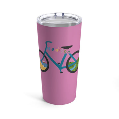 """Madison Bike"" Tumbler 20oz - College Collections Art"