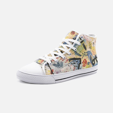 """Andy Warhol Recreation"" High Top Canvas Shoes - College Collections Art"