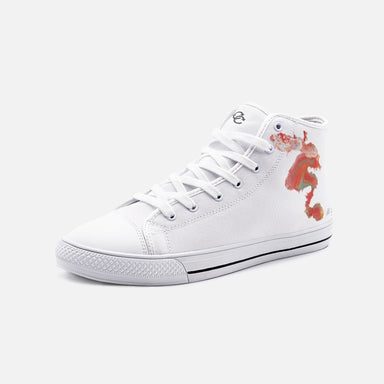 """Untitled 005"" Unisex High Top Canvas Shoes - College Collections Art"