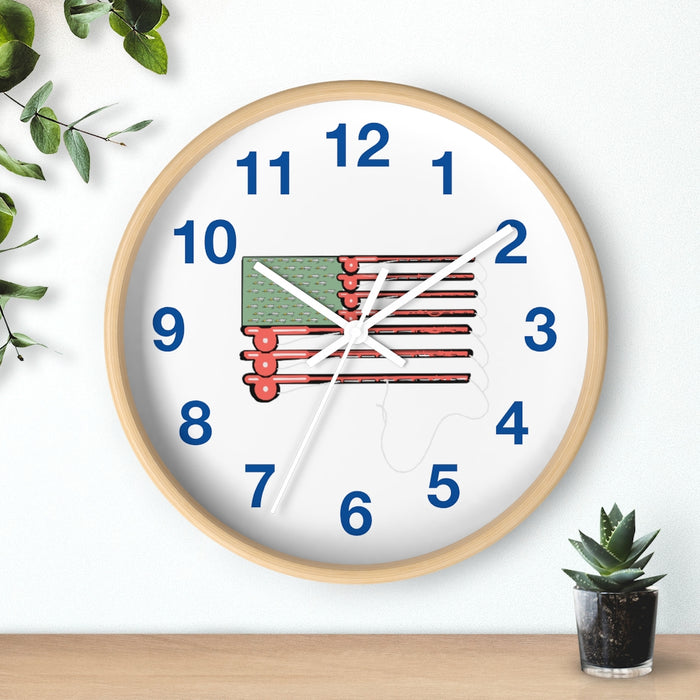 """Fish America"" Wall clock - College Collections Art"
