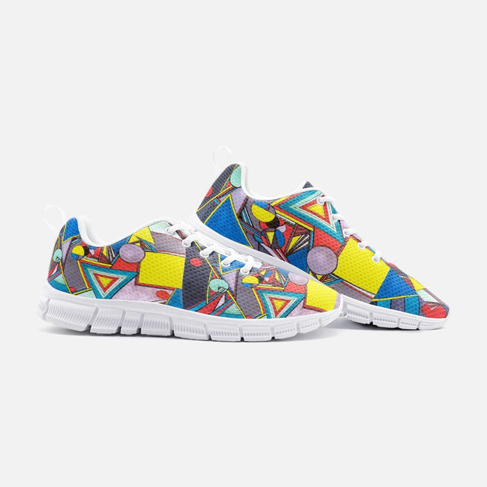"""Geo Therapy Eight"" Unisex Lightweight Sneaker Athletic Sneakers - College Collections Art"
