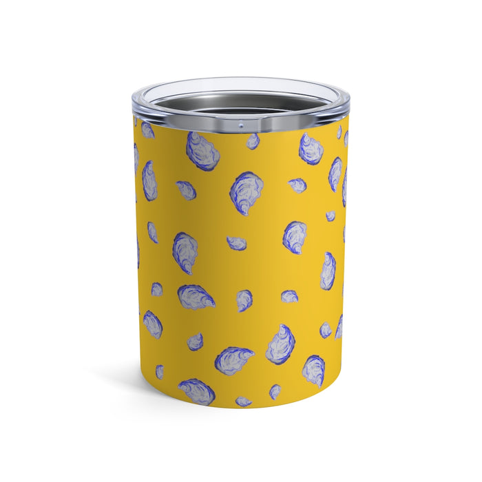 """Oysterfest"" Yellow Tumbler 10oz - College Collections Art"