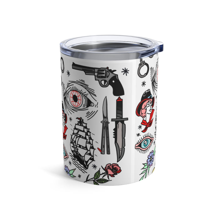 """Pirate Life"" Tumbler 10oz - College Collections Art"