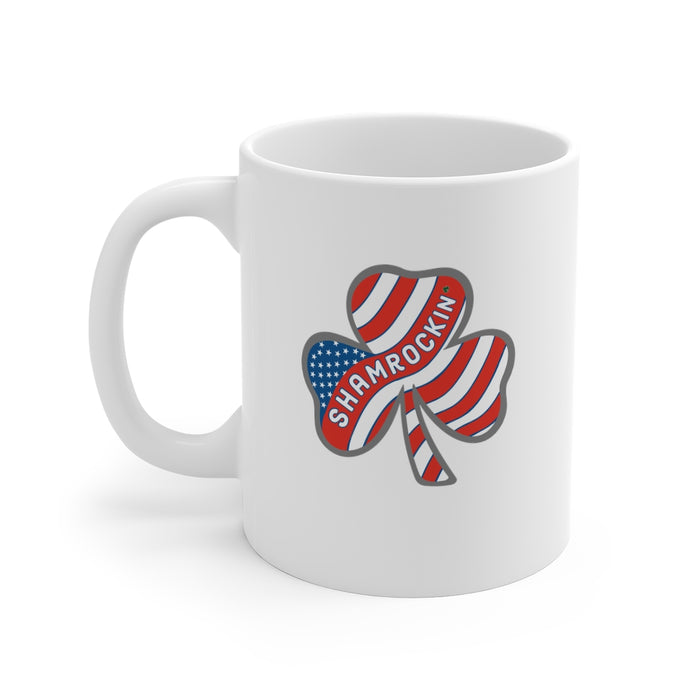 """Shamrockin"" Mug 11oz - College Collections Art"