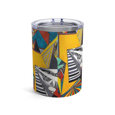 "'Geo Therapy Two"" Tumbler 10oz - College Collections Art"