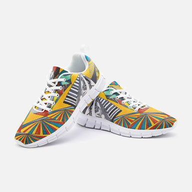 """Geo Therapy Two"" Unisex Athletic Sneakers - College Collections Art"