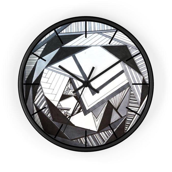 """Geo Therapy Four"" Wall clock - College Collections Art"