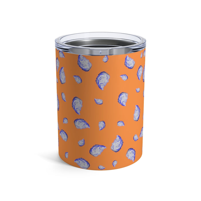 """Oysterfest"" Orange Tumbler 10oz - College Collections Art"