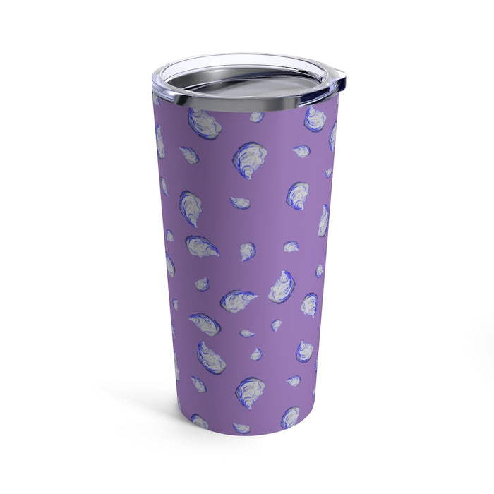 """Oysterfest"" Purple Tumbler 20oz - College Collections Art"