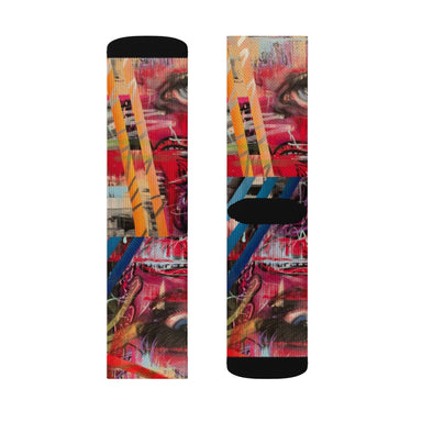 """Picks--009"" Sublimation Socks - College Collections Art"