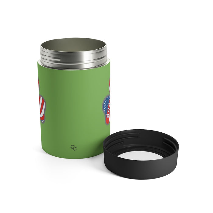 """Shamrockin'"" Can Holder (Light Green) - College Collections Art"