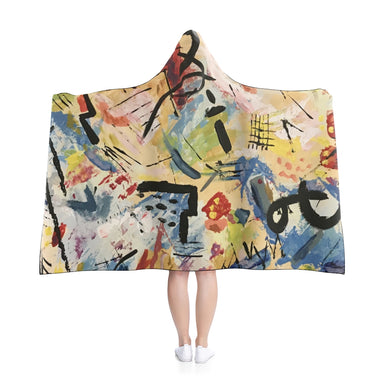 """Andy Warhol Recreaction"" Hooded Blanket - College Collections Art"