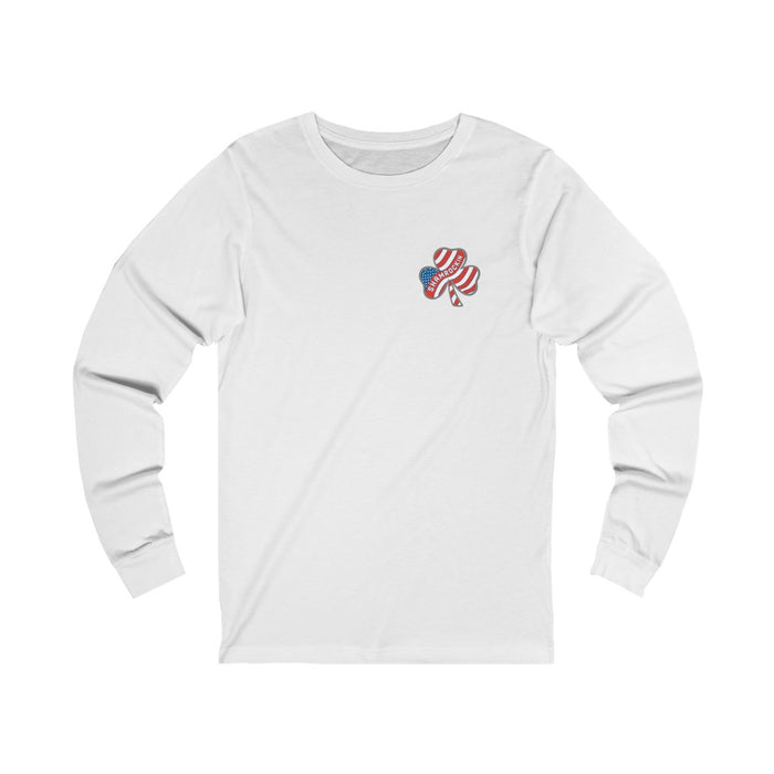 """Shamrockin'"" Long Sleeve Tee - College Collections Art"