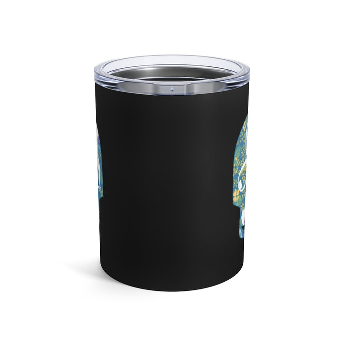 """Tropical Skull"" Tumbler 10oz - College Collections Art"
