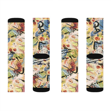 """Andy Warhol Recreation""  Socks - College Collections Art"