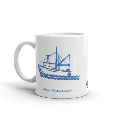 """Fishin Boat"" Mug - College Collections Art"