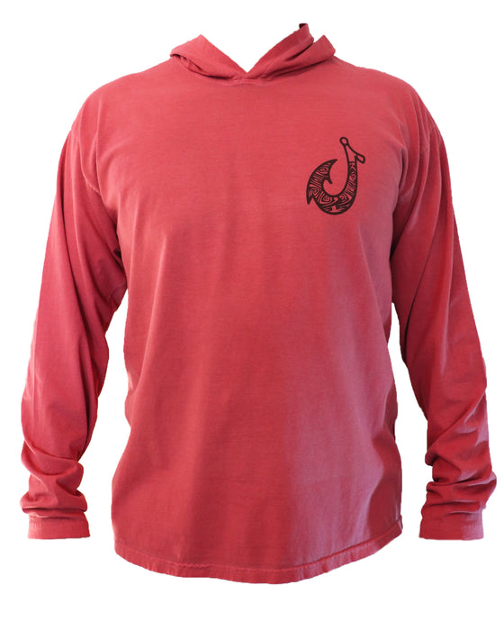 Hook & Salmon Long Sleeve Hoodie - College Collections Art