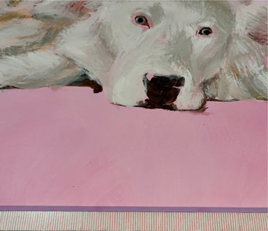 """Lazy Eyed Dog"" 30"" x 40"" Original Painting - College Collections Art"