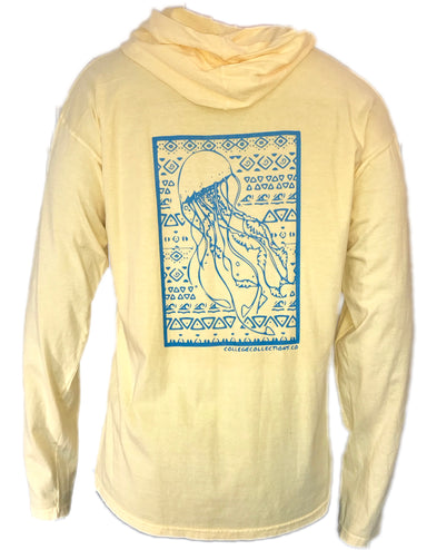 Jellyfish Long Sleeve Hoodie - College Collections Art