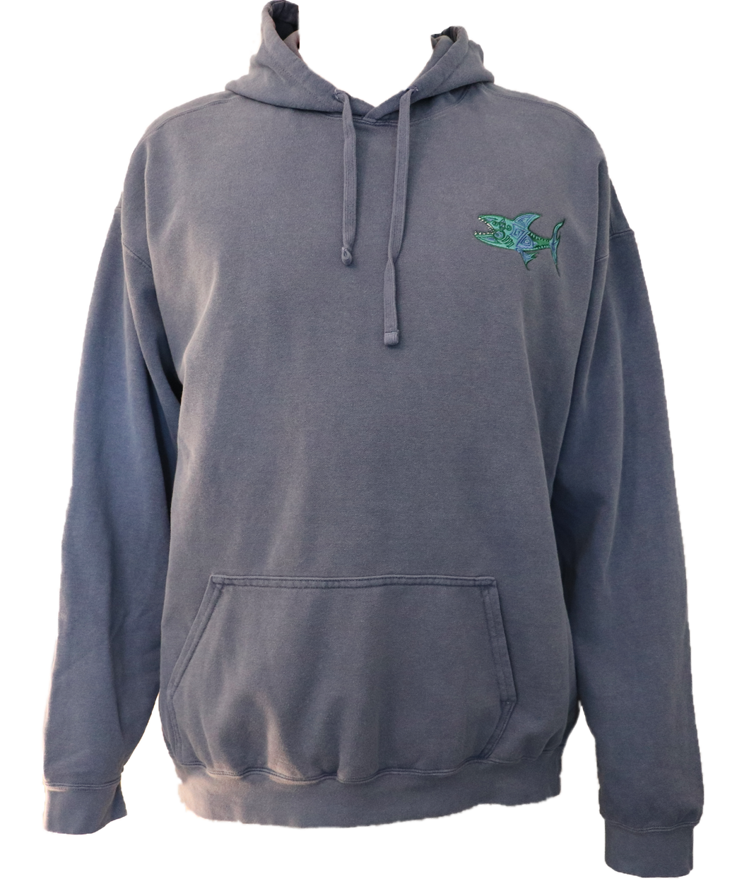 Embroidered Shark Hoodie