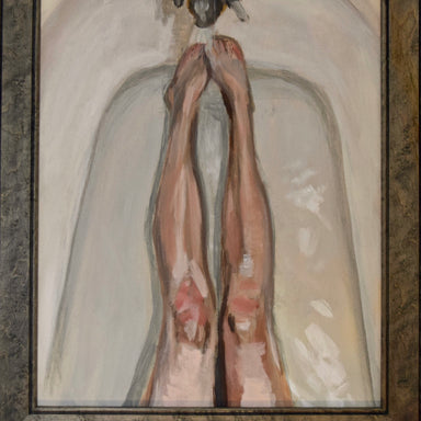 """Legs in the Tub"" 20"" x 16"" Original Painting - College Collections Art"