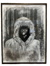 """Fur Hood"" 50"" x 38"" Original Charcoal Drawing - College Collections Art"
