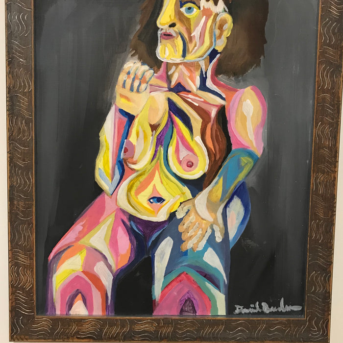 """Human Figure"" 18"" x 20"" Original Painting - College Collections Art"
