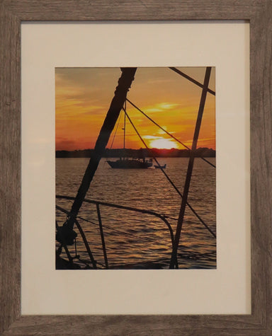 """Sailors Sunset"" Framed Photo - College Collections Art"