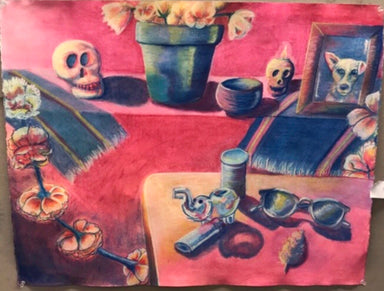 """Mi Cultura: Mota y Muertos"" Original Painting - College Collections Art"