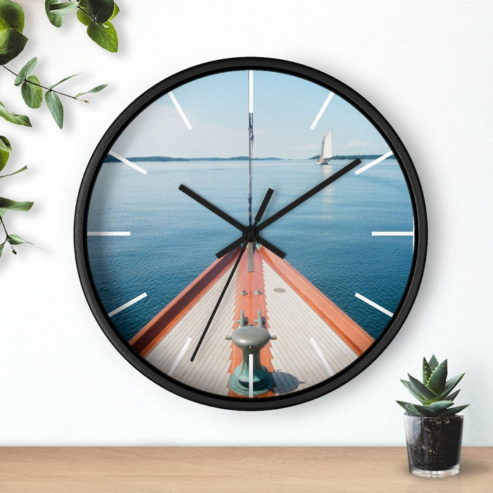 """Foredeck Becalmed"" Wall clock - College Collections Art"