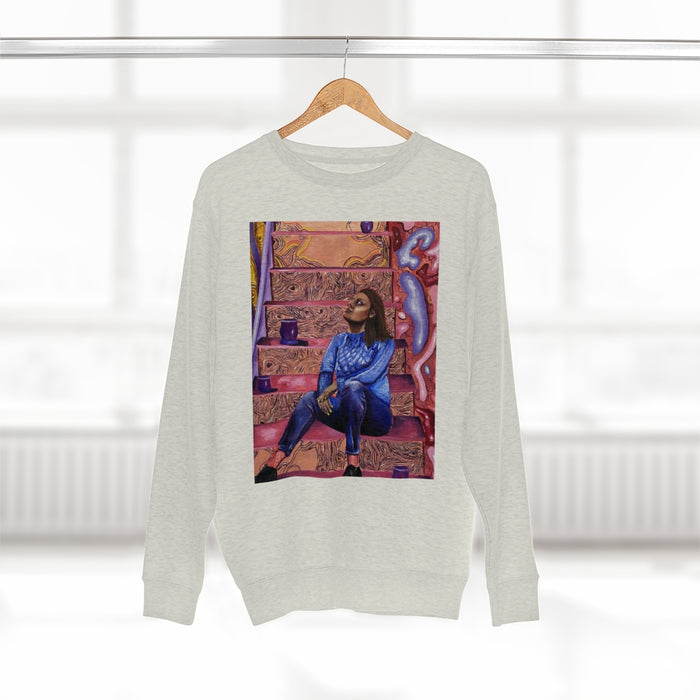 """When I've Got the Whole World"" Crewneck - College Collections Art"