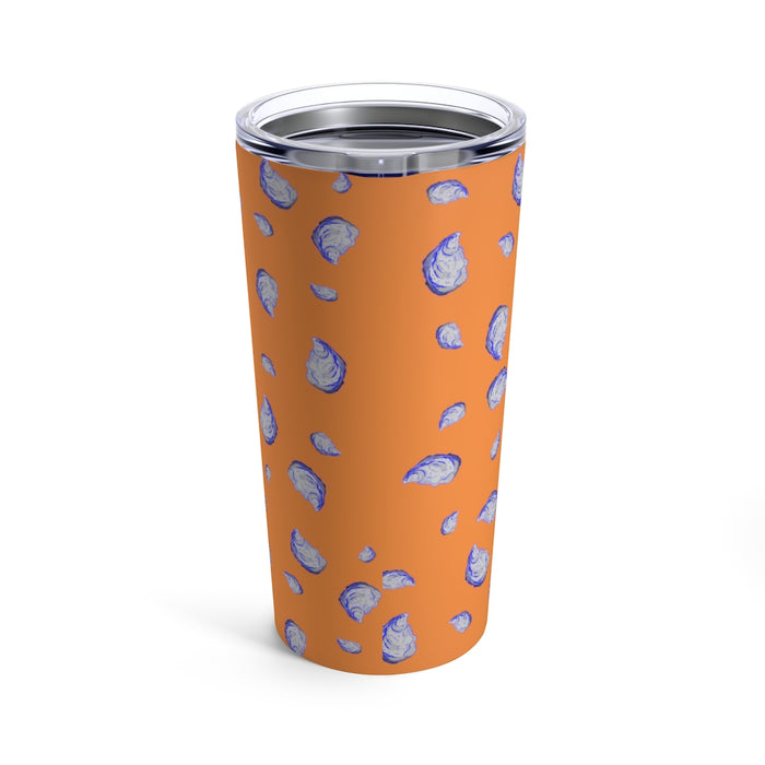 """Oysterfest"" Orange Tumbler 20oz - College Collections Art"
