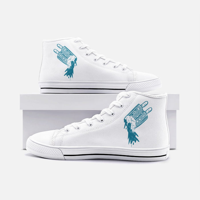 """Melting"" High Top Canvas Shoes - College Collections Art"