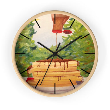 """Pancakes"" Wall clock - College Collections Art"